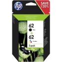 Hewlett-Packard (HP) Original 62 Combo 2-Pack Black/Tri-Colour (NEW)